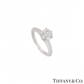 Tiffany & Co. Platinum Diamond Setting Ring 1.42ct G/VS2 XXX